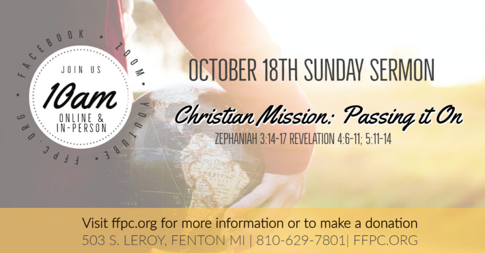 Christian Mission: Passing it On